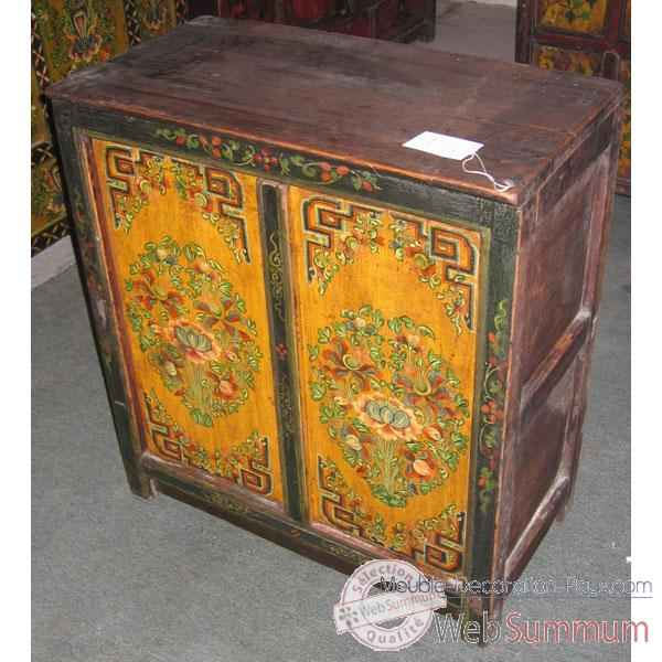 Mini buffet 2 portes tibet style Chine -C0326
