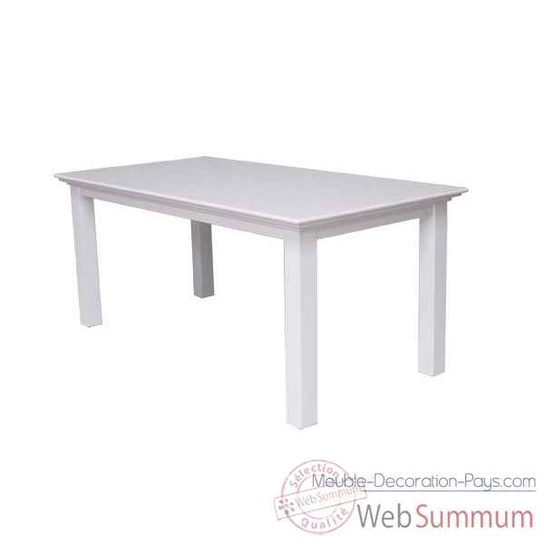 Table blanche 160 cm collection halifax Nova Solo -T759-160