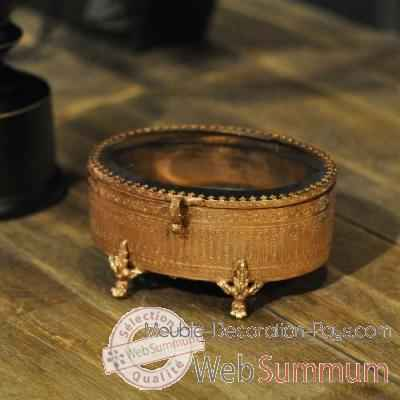 Boite ovale cuivre objet de curiosit va021 de objet original du monde - Objet deco cuivre ...