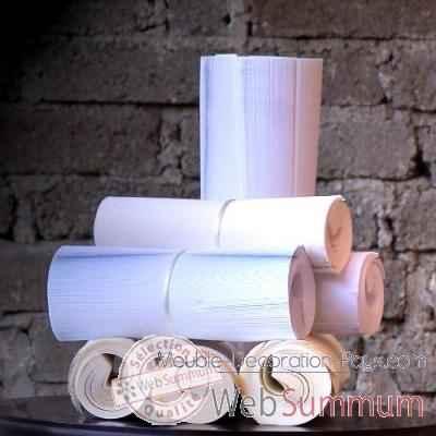 Livres blancs en rouleau l t objet de curiosit de objet - Objet decoratif original ...