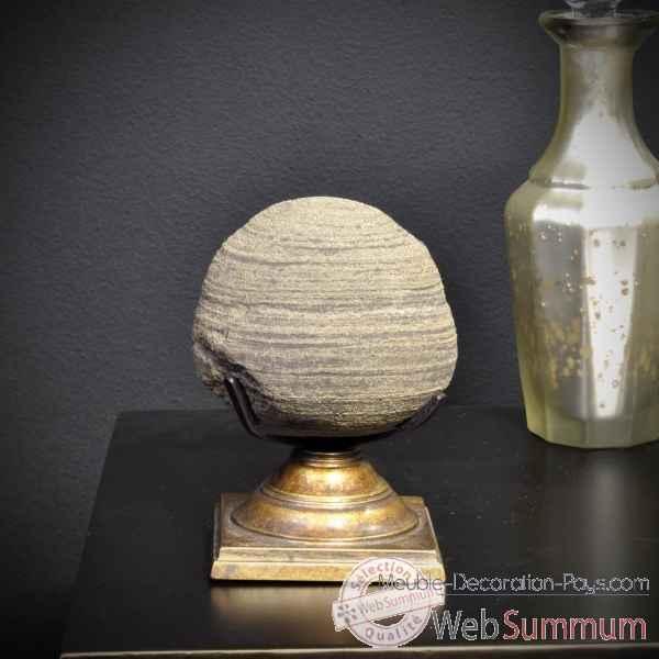 boule de pyrite sur septaria pm objet de curiosit de objet original du monde. Black Bedroom Furniture Sets. Home Design Ideas