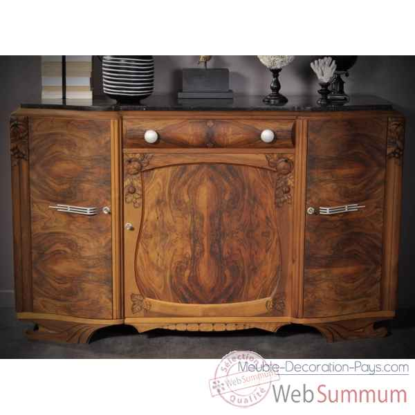 Buffet 40's - antiquite- finition noyer mat Objet de Curiosite -PUMB034