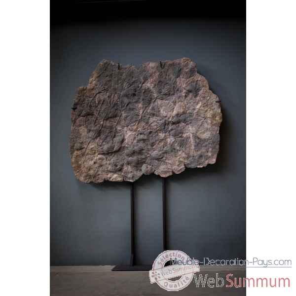Crinoide en plaque 137x168cm sur socle fer objet de curiosite pufo100