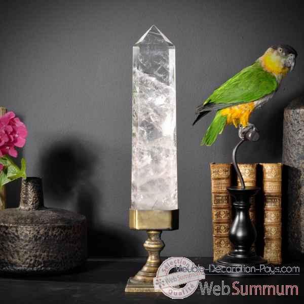 cristal pointe polie br sil objet de curiosit de objet original du monde b. Black Bedroom Furniture Sets. Home Design Ideas