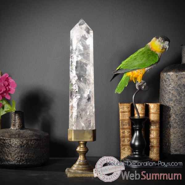 cristal pointe polie br sil objet de curiosit de objet original du monde c. Black Bedroom Furniture Sets. Home Design Ideas