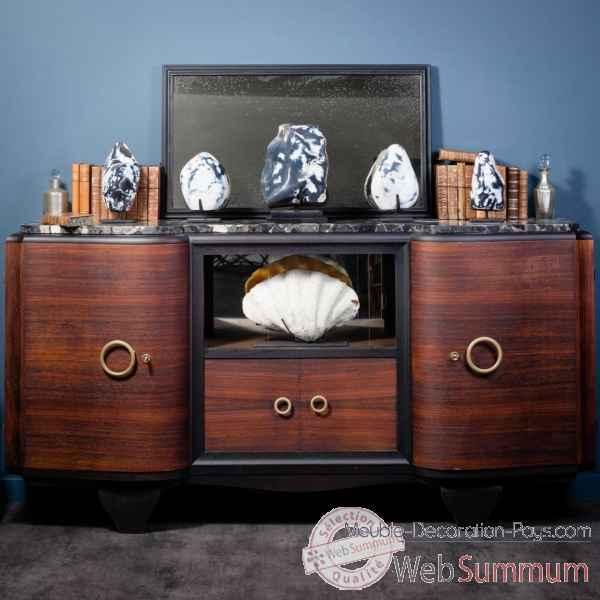 enfilade 40 39 s avec vitrine coulissante centrale pumb016 1 dans nouveaux objets. Black Bedroom Furniture Sets. Home Design Ideas