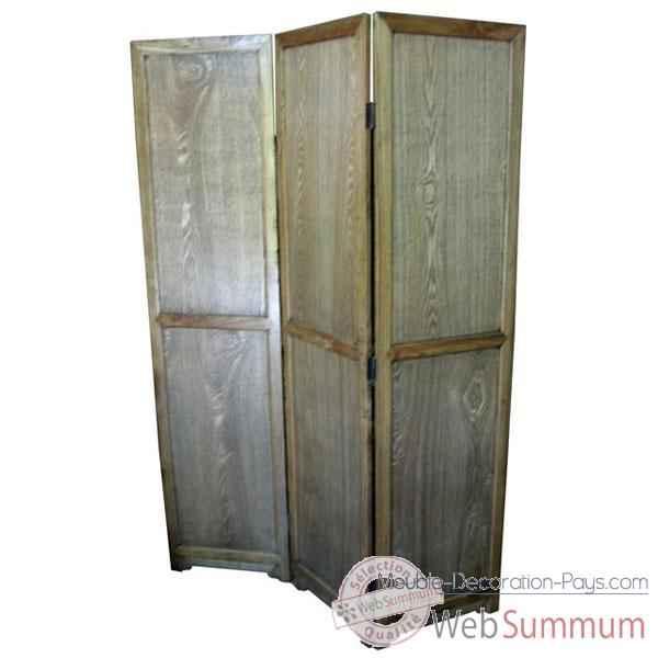 paravent 3 panneaux style chine c0594nat dans autre meuble chine de meuble chinois. Black Bedroom Furniture Sets. Home Design Ideas