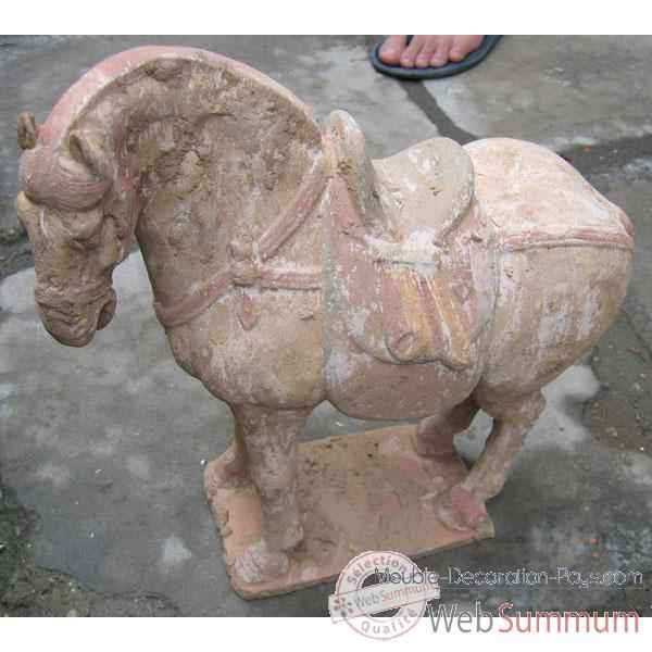 Video Sculpture cheval tang en terre cuite artisanat Chine -c67030