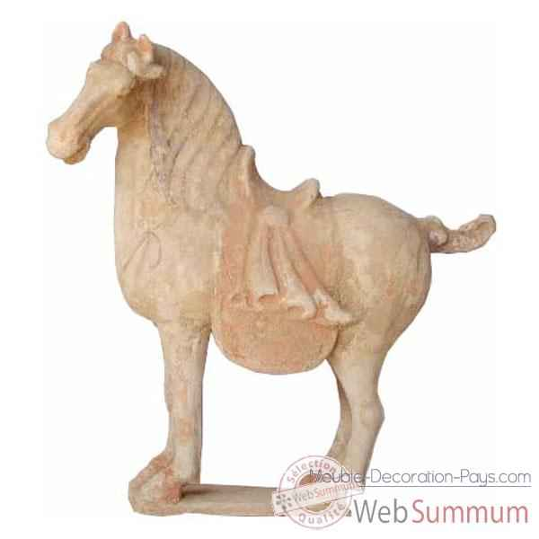 Sculpture cheval tang terracotta petit modele artisanat Chine -cer012