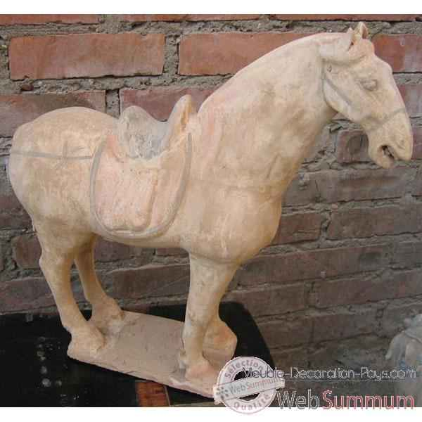 Video Sculpture cheval terre cuite artisanat Chine -c66501
