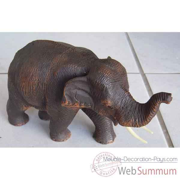 Video Sculpture bois elephant debout artisanat Thai -tai0716