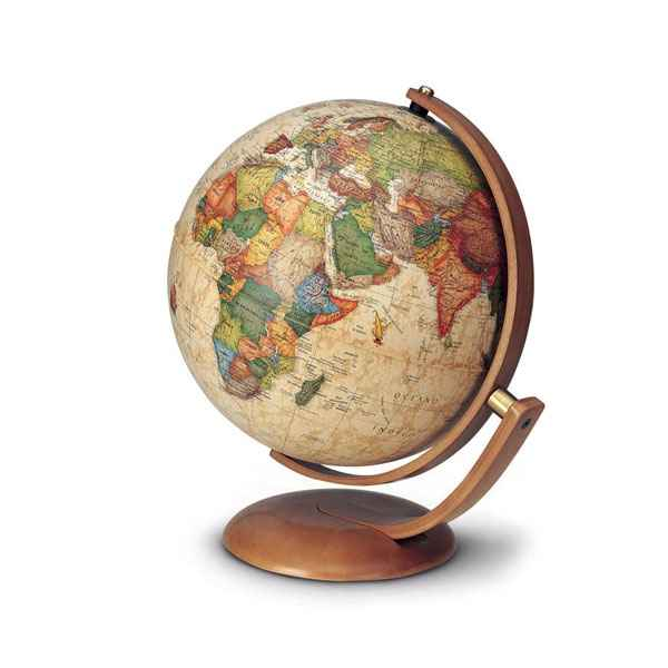 Video Globe de bureau Optimus 30 - Globe geographique lumineux - Cartographie de type antique,  reactualisee - diam 30 cm - hauteur 40 cm