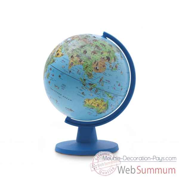 Globe non lumineuxmini safari 16 mini cartographie illustree 16 cm (diametre) Sicjeg