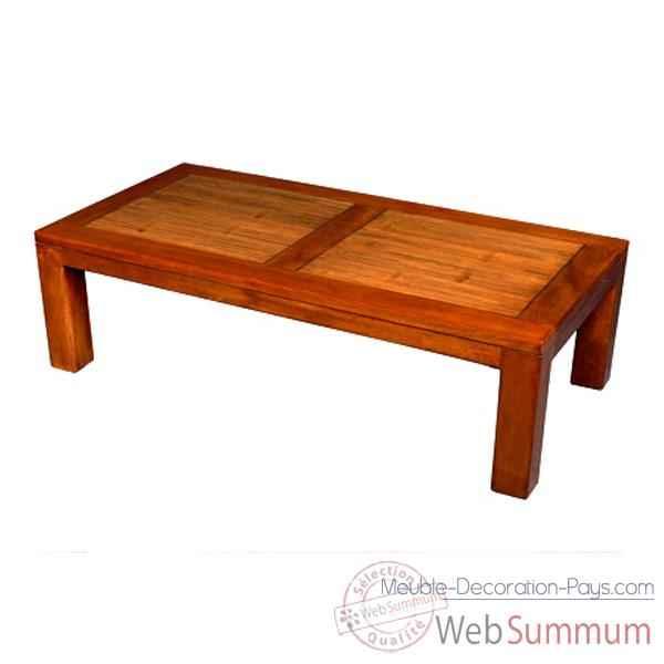 Table basse en bois ciré fabriqué en Indonésie Meuble dIndonésie A