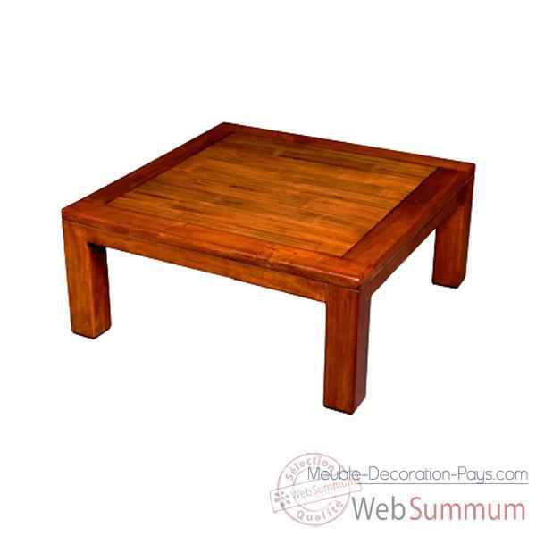 Table basse en bois cire fabrique en Indonesie Meuble d'Indonesie -56776CI
