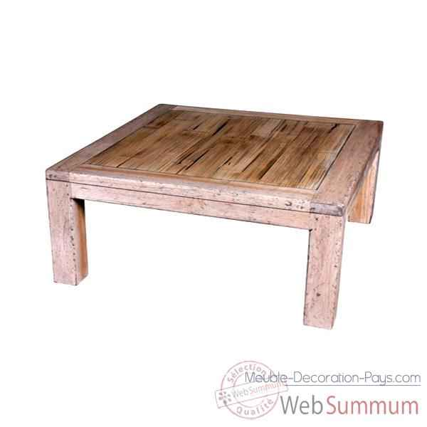 Table basse en bois naturel vieilli fabrique en Indonesie Meuble d'Indonesie -56776NV