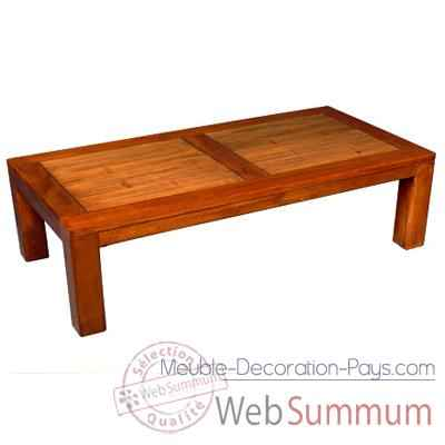 Table basse en bois cire fabrique en Indonesie Meuble d'Indonesie -56782CI