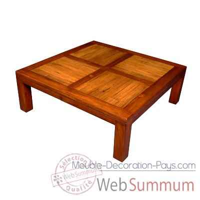 Table basse en bois cire fabrique en Indonesie Meuble d'Indonesie -56783CI