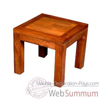 Table basse en bois cire Meuble d'Indonesie -56784CI