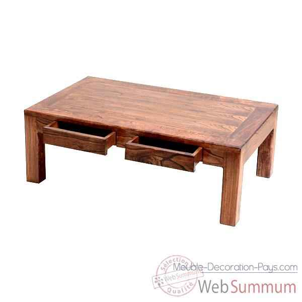 Table basse millenium 2 tiroirs Meuble d'Indonesie -54273