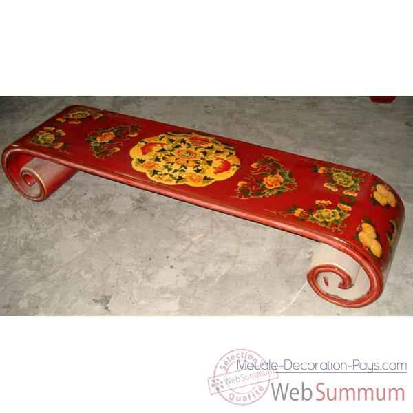 table basse rouleau grand mod le tibet style chine c0621 dans table. Black Bedroom Furniture Sets. Home Design Ideas