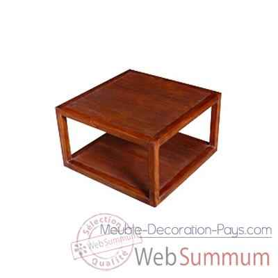 Table basse planches strie Meuble d'Indonesie -53979