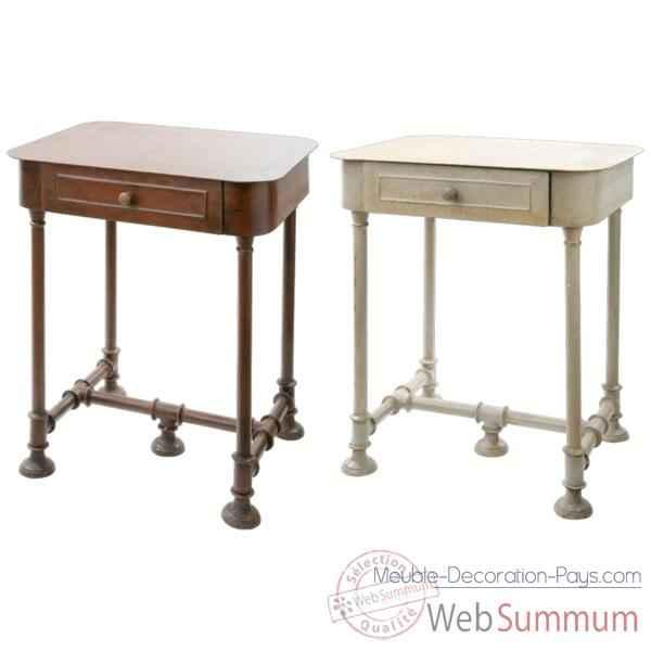 table de chevet en m tal acier hindigo je66aci dans meuble indien. Black Bedroom Furniture Sets. Home Design Ideas