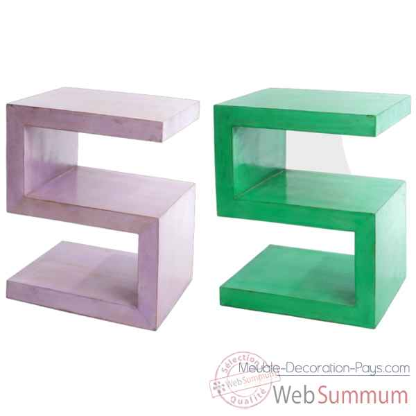 Table chevet couleur verte Hindigo -JE27GREE