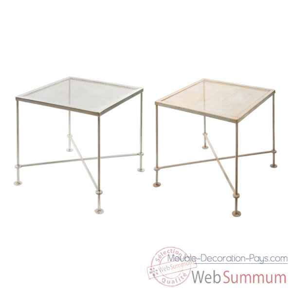 Table Metal gris clair Hindigo -JE63LGREY