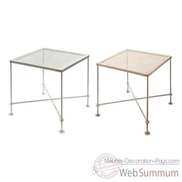 table m tal rouille hindigo je63aci dans meuble indien sur meuble decoration pays. Black Bedroom Furniture Sets. Home Design Ideas