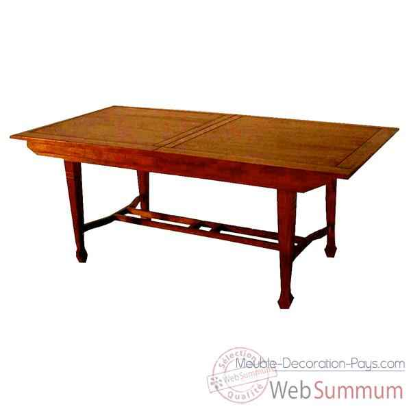 Table rectangle avec rallonge papillon Meuble d'Indonesie -54365P