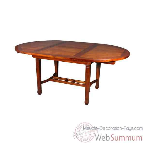 Table ronde avec rallonge papillon Meuble d'Indonesie -54352P