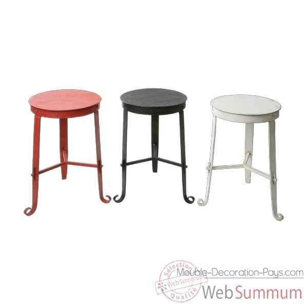 Tabouret en Metal rouge Hindigo -JE14RED